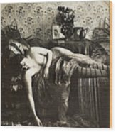 Sleeping Woman, C1900 Wood Print