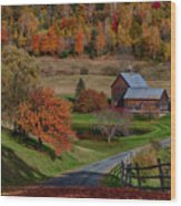 Sleepy Hollow Farm Wood Print