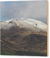 Slieve Mish Mountain In Snow Wood Print