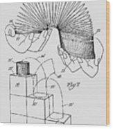 Slinky Patent 1947 Wood Print
