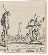 Smaralo Cornuto And Ratsa Di Boio Wood Print