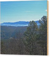 Smokey Mountains Wood Print