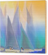 Smooth Sailing Wood Print by Mathilde Vhargon