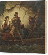 Smuggler In A Boat Wood Print