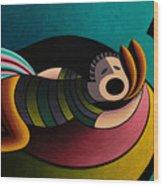 Snoring Wood Print