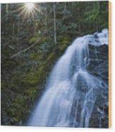 Snow Creek Falls Wood Print