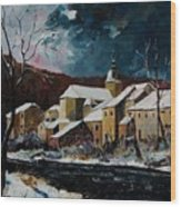 Snow In Chassepierre Wood Print