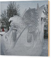 Snow Sculpture Wood Print