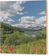 Snowdonia Lake Wood Print