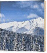 Snowmass Wood Print