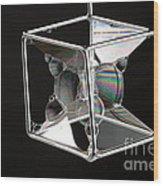 Soap Films On A Cube Wood Print