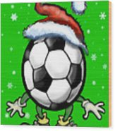 Soccer Christmas Wood Print