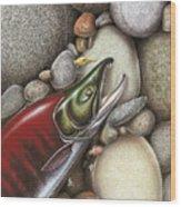 Sockeye Salmon Wood Print