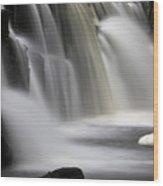 Soft Clare Glen's Waterfall Ireland Wood Print