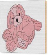 Soft Puppy Pink Wood Print