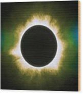 Solar Eclipse In Infrared Wood Print