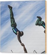 South African Street Acrobats  Wood Print