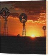 South African Sunrise Wood Print