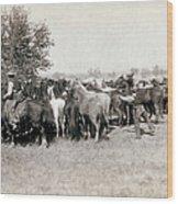 South Dakota: Cowboys Wood Print