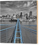 South Tower - Selective Color Wood Print