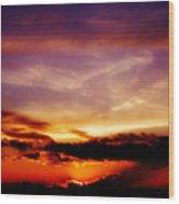 Southern Sunset Wood Print