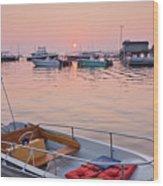 Southwest Harbor Sunrise Wood Print