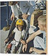 Space: Chimpanzee, 1961 Wood Print