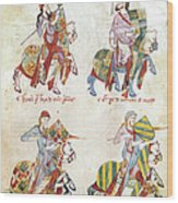 Spain: Knights, C1350 Wood Print