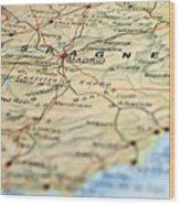 Spain Map Wood Print