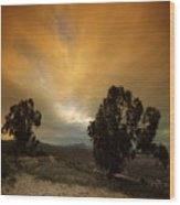 Spanish Landscape Wood Print