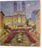 Spanish Steps, Rome Wood Print