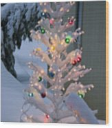 Sparkly Tree Wood Print