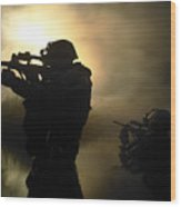 Special Operation Forces Combat Divers Wood Print