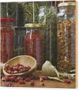 Spicy Still Life Wood Print by Carlos Caetano