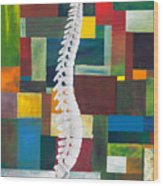 Spine Wood Print by Sara Young