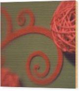 Spiral Ball With Felt Wood Print