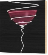 Spiral Wine Glass Wood Print