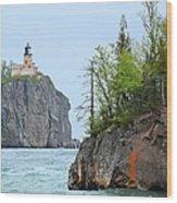 Split Rock Wood Print