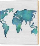 Spray Paint Map Wood Print