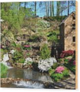 Springtime At The Old Mill Wood Print