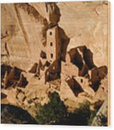 Square Tower Ruin Wood Print