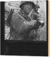 Ss Waffen Corporal Otto Funk Circa 1943 Wood Print