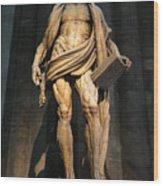St. Bartholomew In Milan Cathedral By Marco D'agrate Wood Print