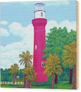 St Johns River  Lighthouse Wood Print