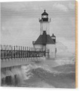 St. Joseph North Pier Lighthouse Wood Print