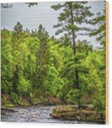 St Louis River Wood Print