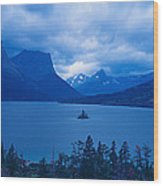 St. Mary Lake, Glacier National Park Wood Print