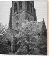 St Nicholas Church Including Graveyard Containing Grave Of Mildred Washington Grandmother Of George  Wood Print