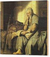 St. Paul In Prison Wood Print