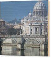 St Peters Basilica, Rome, Italy Wood Print